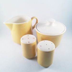 Vintage 70s creamer, sugar bowl and s&p shaker set